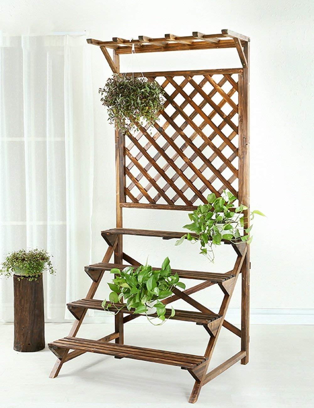 CWJ Blumengestell Massivholz-Blumengestecke Balkon Mehrere Schichten ...