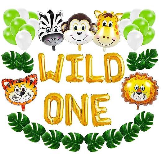 IDEC Wild One Primer cumpleaños con Globos, Kit de ...