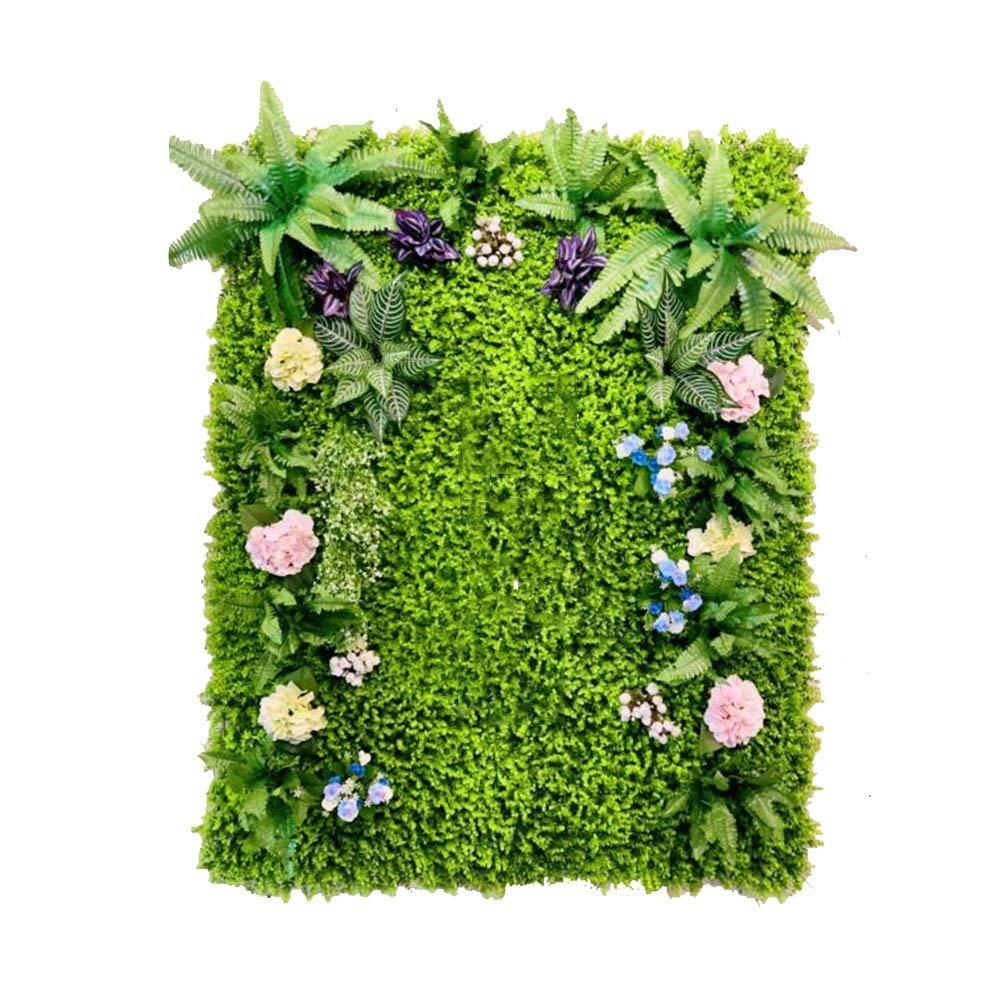 XIAOLIN 4ピース芝生人工フェンスパネルヘッジuvプライバシースクリーンガーデンフェンス裏庭家の装飾緑植物壁 B07T2NQ5D4