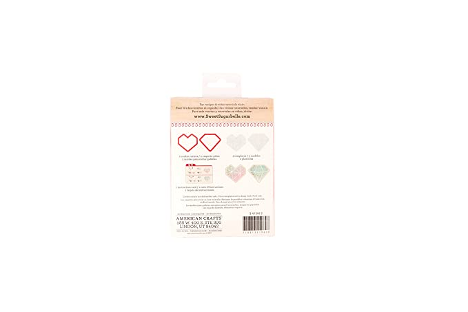 Amazon.com: Sweet Sugarbelle 2 Piece Cookie Cutters Geo Heart Valentines Day: Arts, Crafts & Sewing
