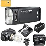 Godox, AD200 TTL 2.4 G HSS 1/8000 s, kit con flash tascabile a luce doppia, 200 Ws, con batteria a litio da 2900 mAh e trigger Godox X1T-N, per fotocamera Nikon (AD200 + X1T-N)