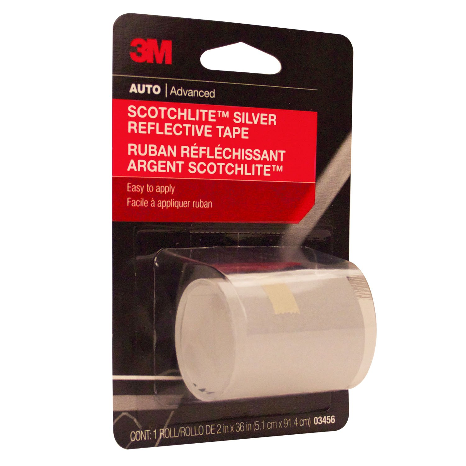 3M Scotchlite Reflective Tape Silver 2 Inch by 36 Inch