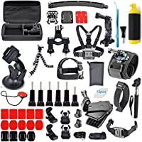 Robustrion Go Pro 60 in 1 Mounts and Straps Accessory Kit (Multi-Colored)