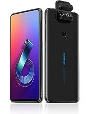 "$499 » ASUS ZenFone 6 (ZS630KL-S855-6G64G-BK) - 6.4"" FHD+ 2340x1080 All-Screen NanoEdge Display - 48MP Flip Camera – 6GB RAM - 64GB Storage - LTE Unlocked Dual SIM Cell Phone - US Warranty - Black"