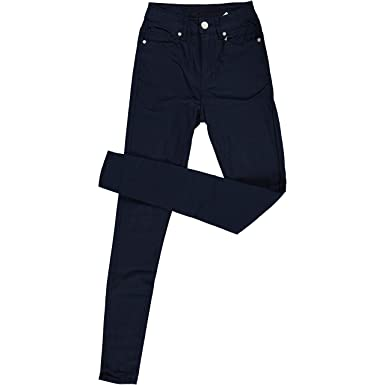 4a7051b372b High Waisted Ultra Skinny Cigarette Slim Fit Extra Stretch Junior Pants  Jeans Size 1 in Navy Blue