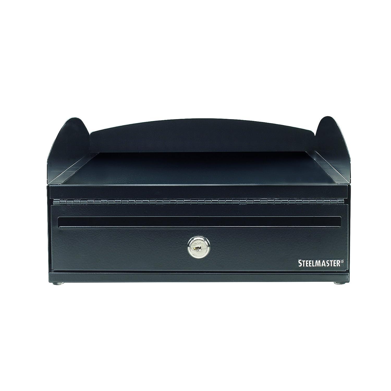 Steelmaster LockIt Desktop Inbox, 14.5 x 5.75 x 11 Inches, 2 Keys Included, Black (264657004)
