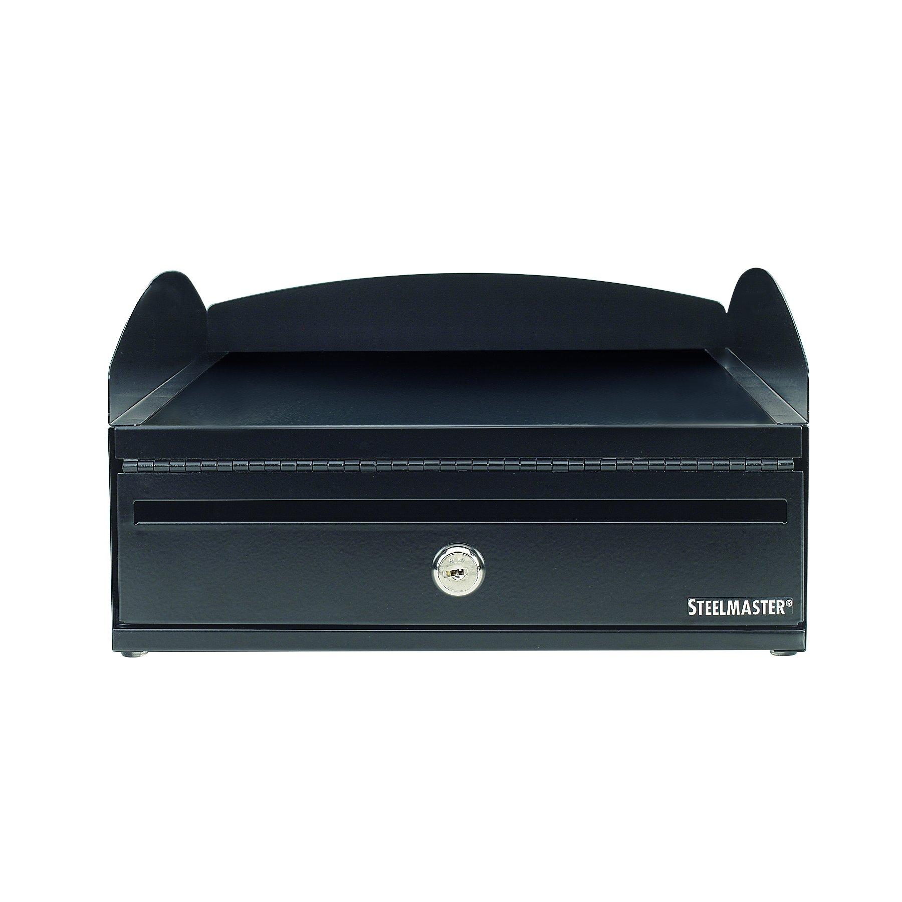 STEELMASTER LockIt Desktop Inbox, 14.5 x 5.75 x 11 Inches, 2 Keys Included, Black (264657004) by MMF Industries