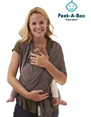 Newborn Baby Wrap Carrier – Front and Back Infant Carrier, Baby Chest Wrap, Wrap Comfortable Cotton Baby Carrier – Premium Carrier & Sleeper for Traveling, Walking, Hiking, Shopping – for Men & Women