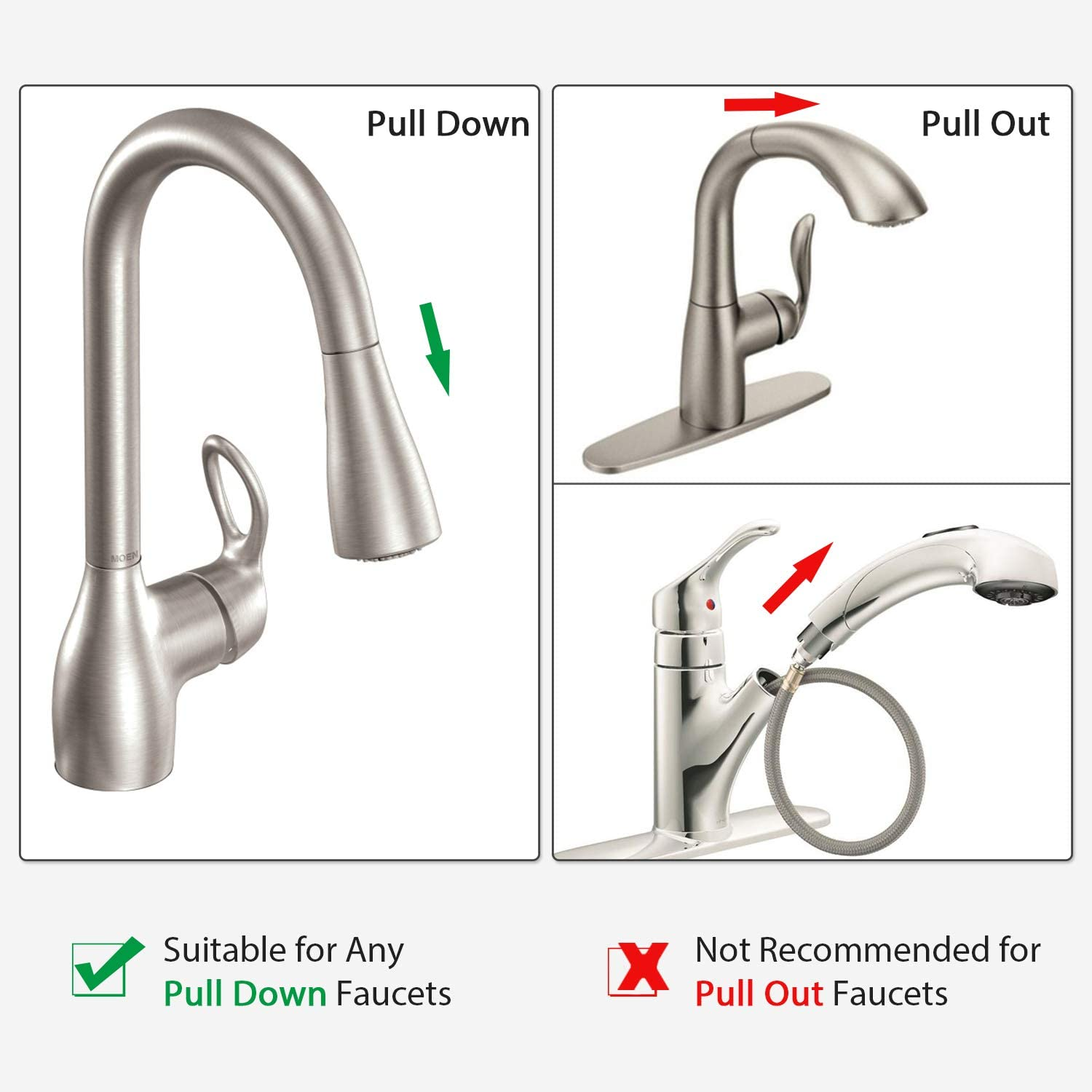 Replacement Hose Kit For Moen Kitchen Faucets Pulldown 150259 Amazon Com