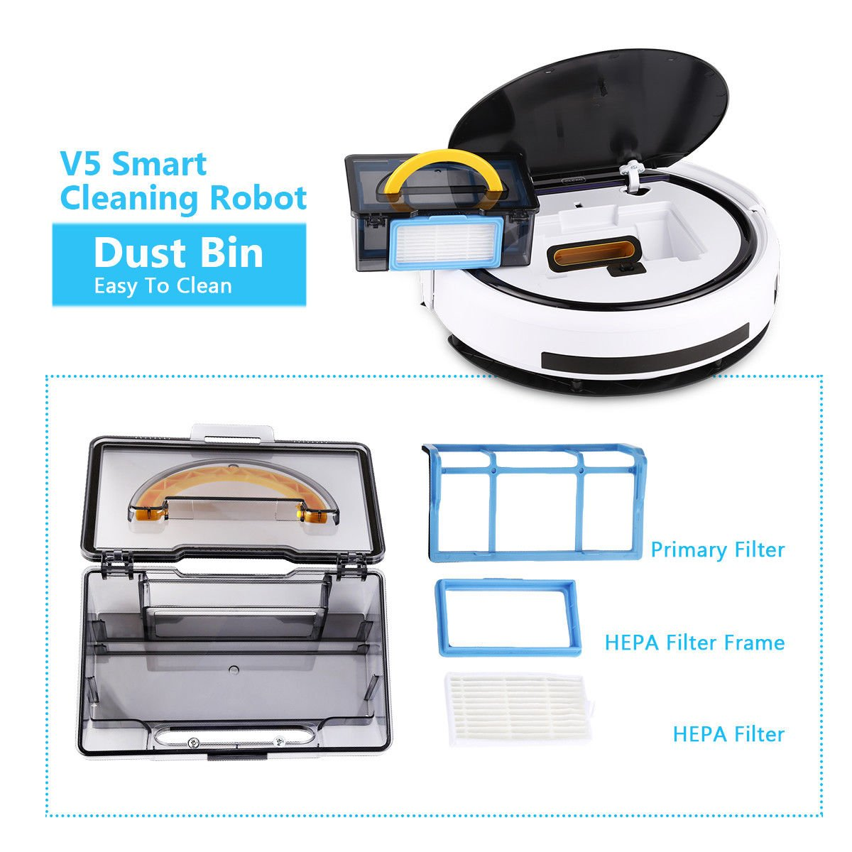 Cleaner Smart Robot Vacuum Cleaning Floor Auto Dust Microfiber Robotic Sweeper Mop Automatic by Alek...Shop (Image #9)