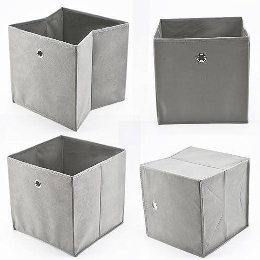 3x Dunkelgrau 33 x 33 Faltbox ohne Deckel Box Regalbox Aufbewahrungsbox faltbar