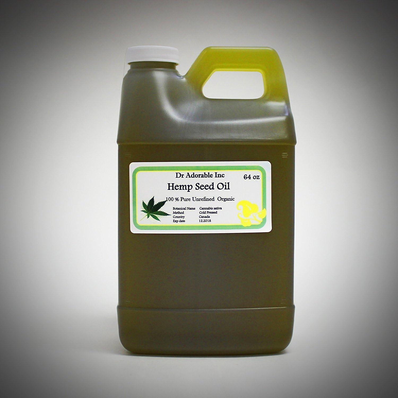 Aceite de Semilla de Cáñamo a nivel de belleza y salud 64oz/2Quarts