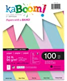 """Kaboom Glimmer Pastel Assorted Colored Paper, 8.5"""" x 11"""", 100 Sheets (20532)"""