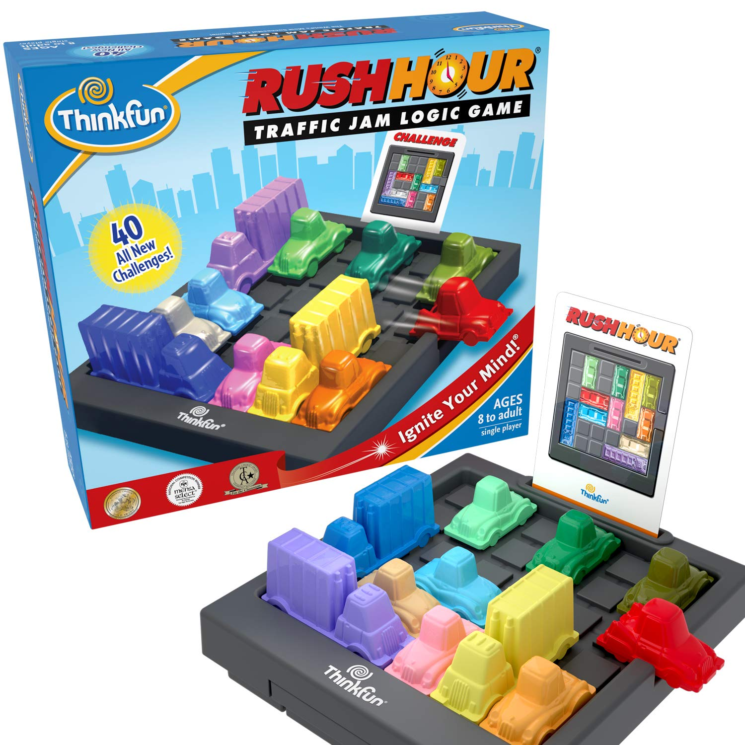 B00000DMER Rush Hour Traffic Jam Logic Game and STEM Toy for Boys and Girls Age 8 and Up - Tons of Fun with Over 20 Awards Won, International for Over 20 Years 71mkJQlqyOL