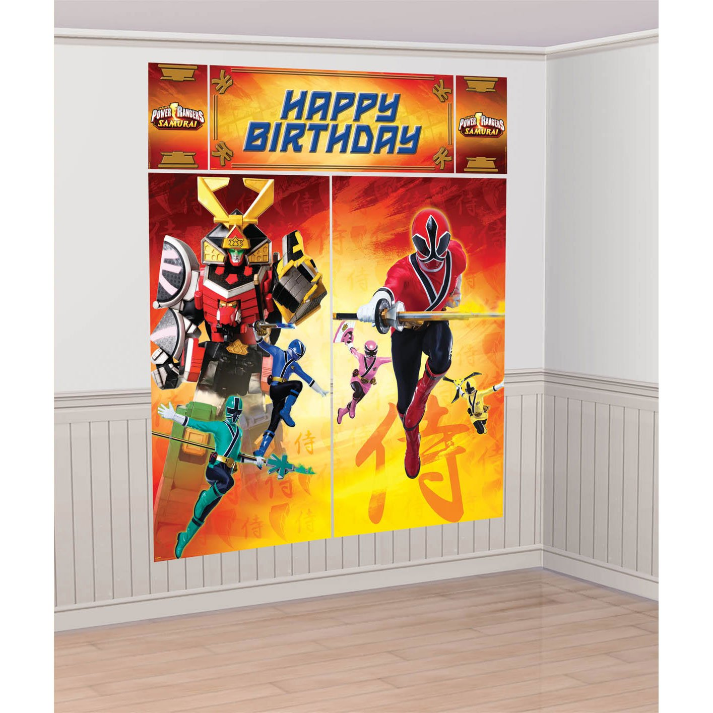 Amazon.com: Power Rangers Samurai Giant Scene Setter 5 Pieces Over 6 Feet  High For Backdrop Pictures Party By Amscan: Toys U0026 Games Part 93
