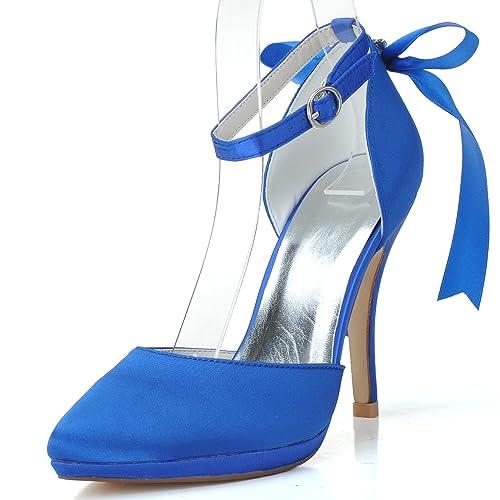 Elobaby Zapatos De Boda De Las Mujeres Impresionante Hebilla Puntiagudo  Cerrado Toe Plataforma Tacones Altos Vestido 10cm TalóN  Amazon.es  Zapatos  y ... 9a1f994739bb