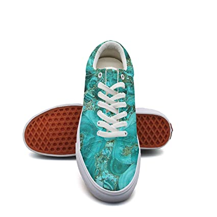 a0c81e26d9e6c Amazon.com: Ouxioaz Womens Laced Shoe Marble Turquoise Blue Gold ...