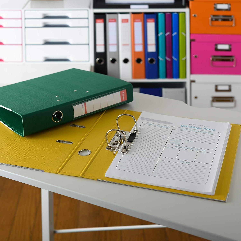 Esselte archivador 70ST verde, espesor 2-agujero, archivadores, A4 tamaño correspondencia, 75 mm de espesor, aproximadamente 550 piezas de GR4680 ...