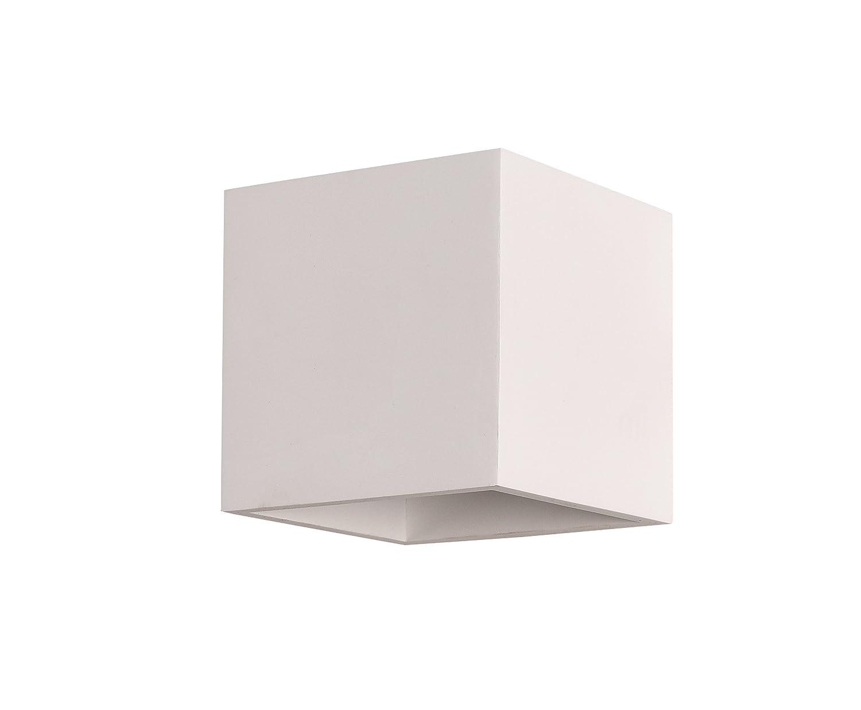 Applique portalampada led da muro g9 cubo 11x11 cm con vetrino in