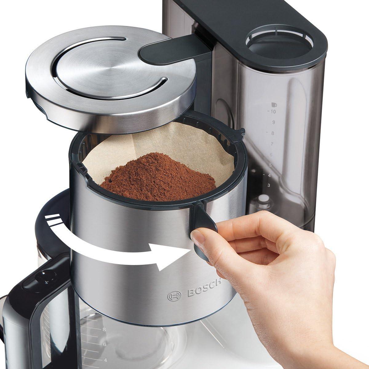 f/ür 10-15 Tassen 1160 Watt max Bosch TKA8631 Kaffeemaschine Styline