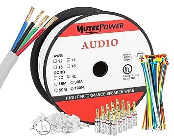 MutecPower - 100 Meter In-Wall Lautsprecherkabel: Amazon.de ...