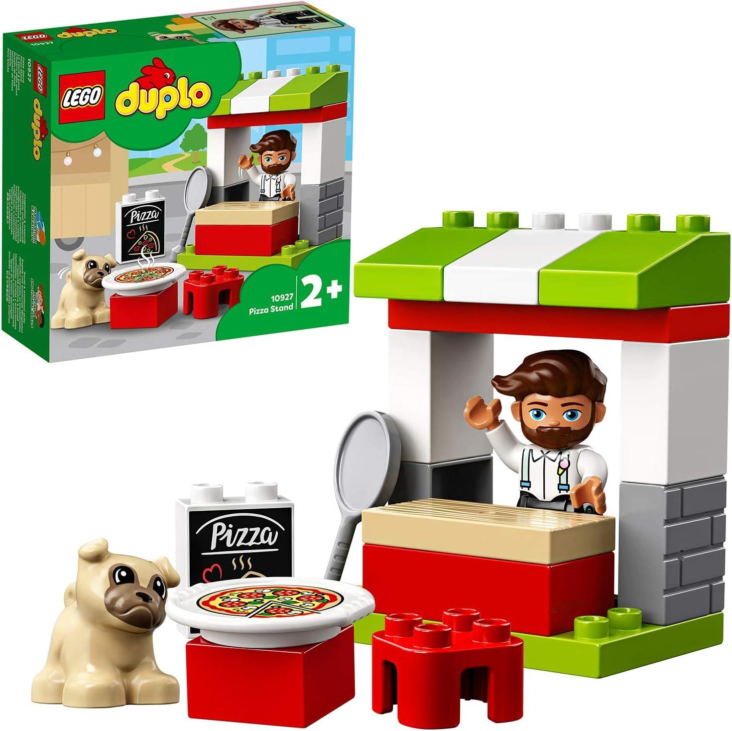 LEGO DUPLO Town - Puesto de Pizza, Set de Construcción con Perro y Pizza de Juguete, Juego con Ladrillos Grandes para Niños y Niñas a Partir de 2 Años (10927): Amazon.es: Juguetes
