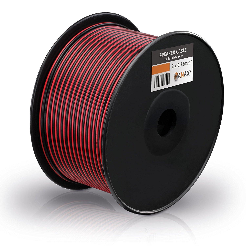 MANAX dei psrecher cavo 2/X 0,75/mm/² cavo audio RCA Box