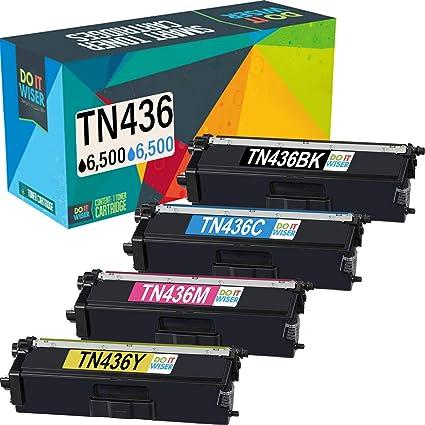 Do it Wiser Compatible Toner Cartridge Replacement for TN436 TN436BK TN 436 TN433 Brother MFC-L8900CDW HL-L8360CDW L8260CDW L8360CDWT MFC-L8610CDW ...