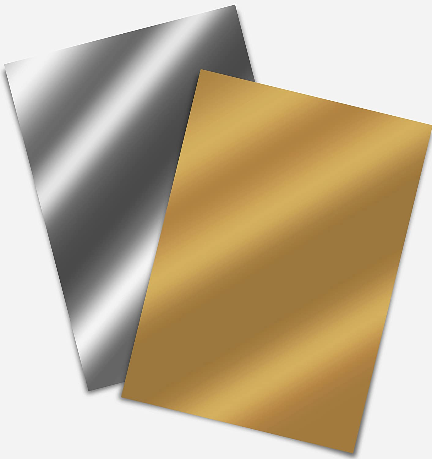 Firefly Craft 熱転写ビニール シルエットとクリカットに対応 12インチ × 20インチ 2 sheets B01A81OGYQ 2 sheets Gold, Silver Gold, Silver 2 sheets