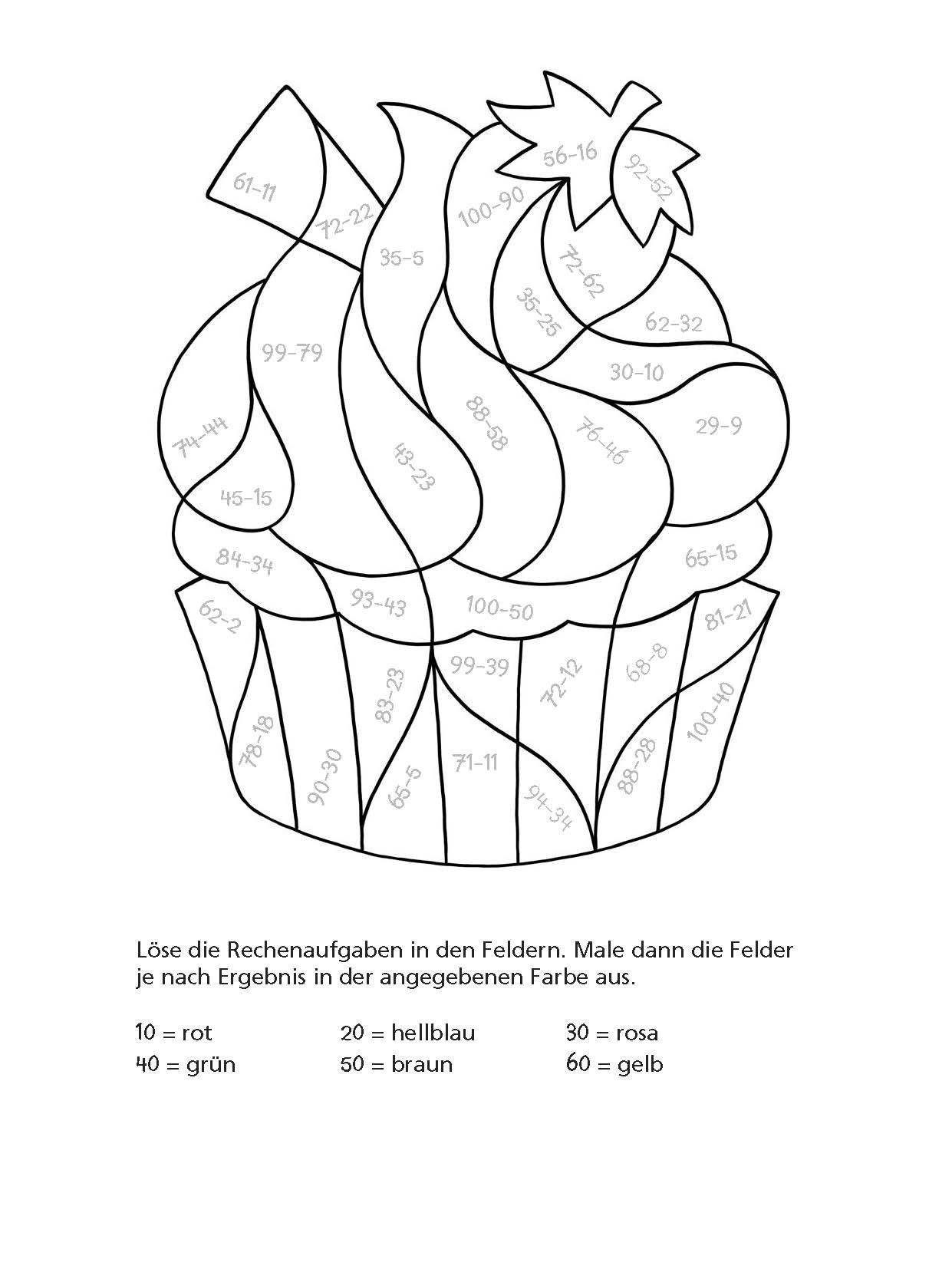 Mathe Malbuch Rechnen Bis 100 Spielerisch Lernen