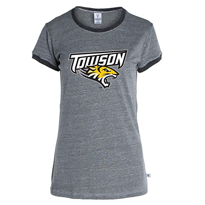 3ff4ec5e6 Official NCAA Towson University Tigers TU Doc the Tiger Womens Ringer Tee:  Amazon.ca: Clothing & Accessories