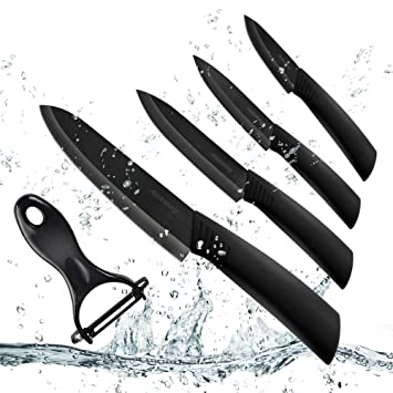 Amazon.com: Ceramic Knife Set, Ankway 9-Piece Durable Rust Proof ...