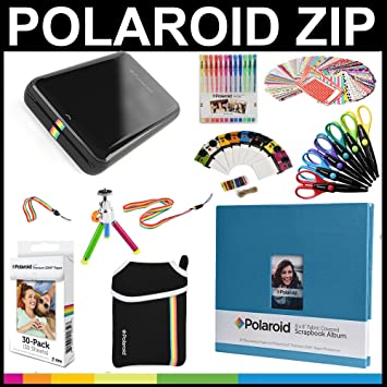 Polaroid Paquete de regalo de impresora móvil ZIP + Papel ZINK (30 hojas) + Libro de ...