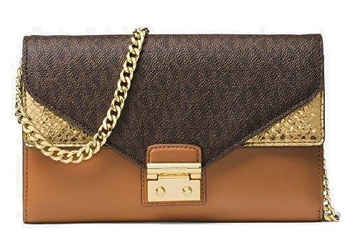 4a297fbe42e MICHAEL Michael Kors Sloan Logo and Leather Chain Wallet Bag