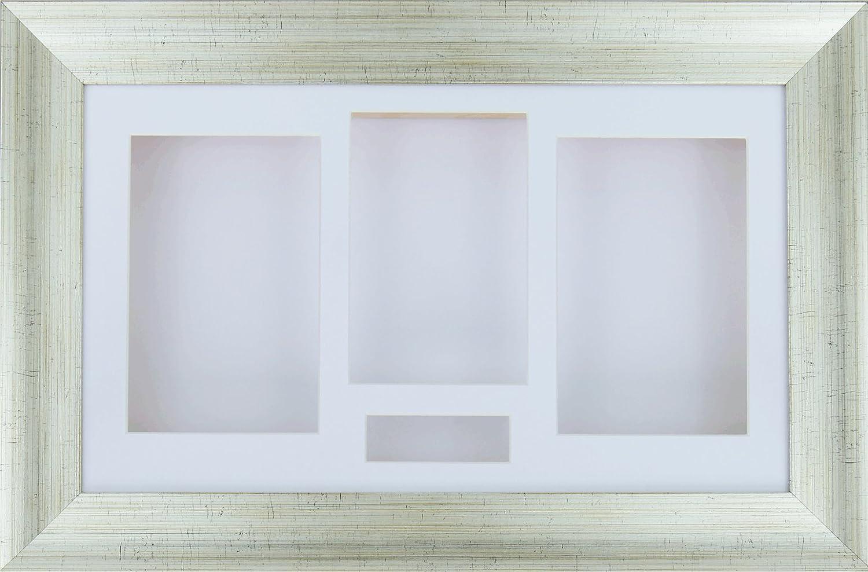 Amazon.de: BabyRice Bilderrahmen, extra tief, 3D mit 4 Öffnungen in ...