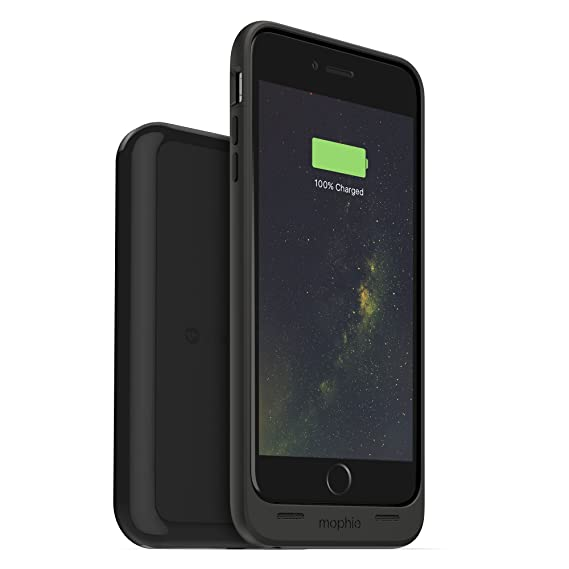 new product 6d735 bba8b mophie Juice Pack Wireless & Charging Base for iPhone 6 Plus, iPhone 6S  Plus - Retail Packaging - Black