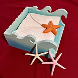 Restaurant For Home Dining Table Countertop Decorise Napkin Holder Wood Flat Nautical Decorative Beach Design With Weighted Starfish Kitchen Outdoors Wedding Parties /& Gifts