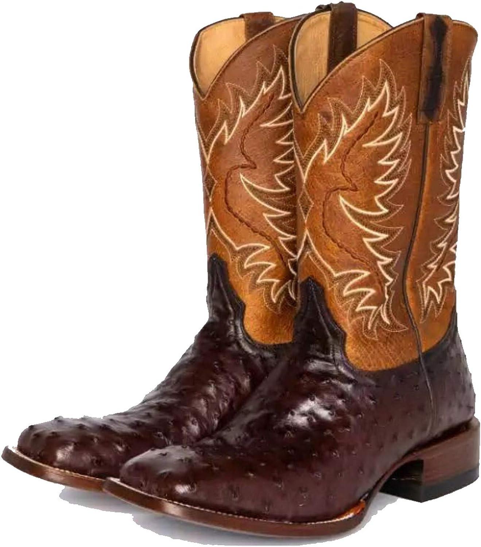 HLDJ Dedo Pie Cuadrado La Vendimia Mujeres Martin Caballo Botas Vaquero Occidental Caballero Bota Montar Zapatos Cómodos Ocasionales Costura Arranque Pantorrilla Gruesa Talón Medio,Negro,EU43