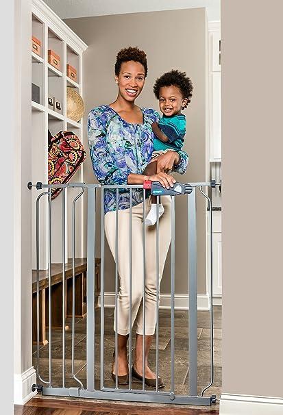 Amazon.com : Regalo Easy Step Extra Tall Metal Walk Thru Baby Gate Safety gate, Platinum : Baby