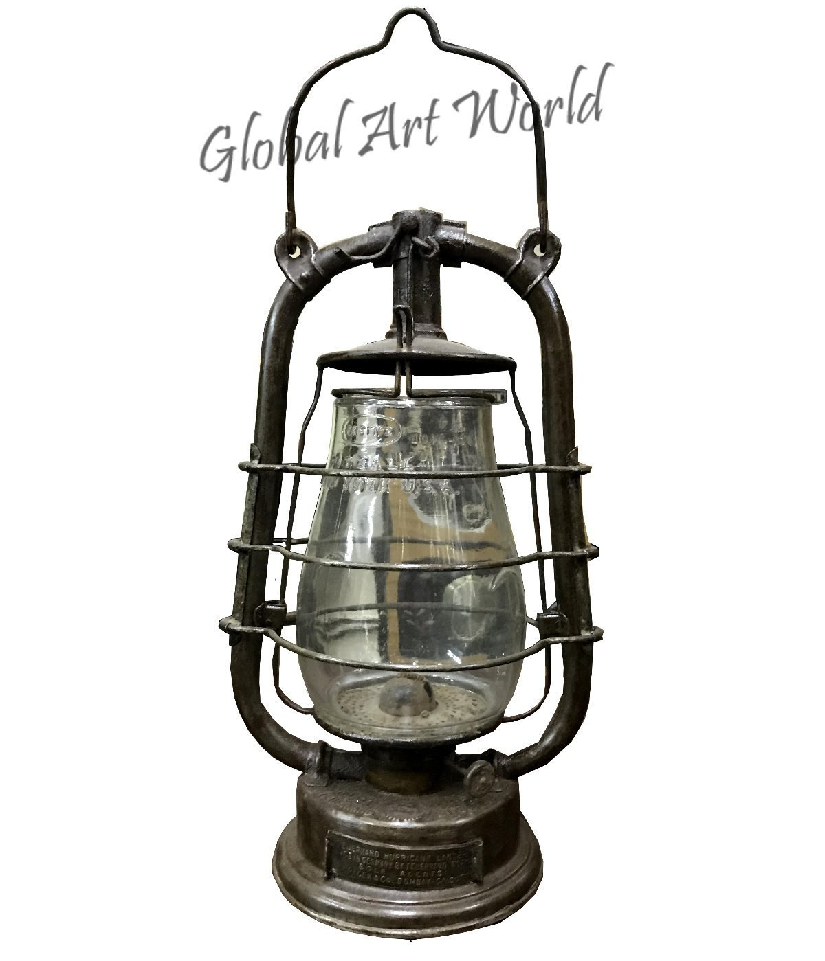 Global Art World Feuerhand Hurricane Vintage Lamps & Lantern Made In Germany In Antique Collectibles, Lamps, Lighting, Lamps And Non Electric Oil Lamps HB 0167