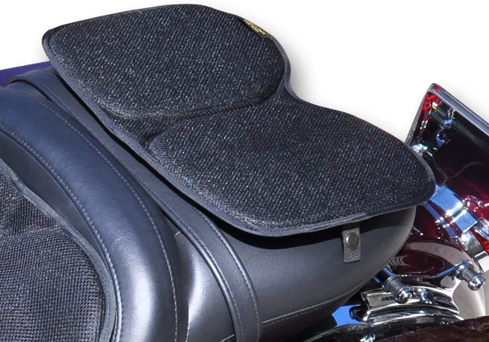 Skwoosh Motorcycle Passenger Gel Seat Pad for Sport Touring with Breathable Cooling Mesh Fabric   Made in USA
