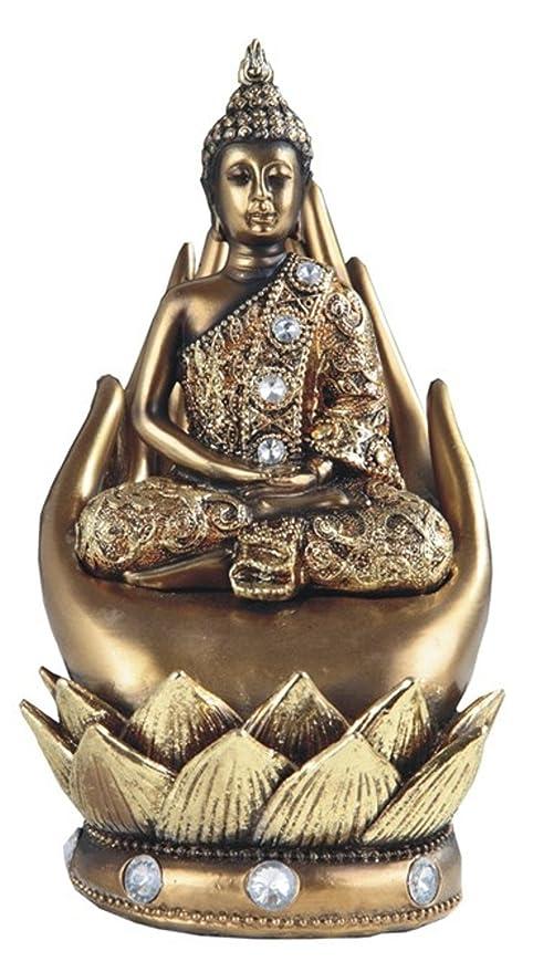 Amazon com: Thai Buddha Statue Sitting in the Lotus Position