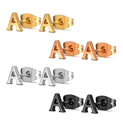 stud boardwalkbuy d letter color grande earrings products gold