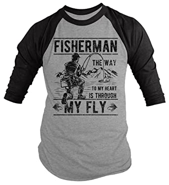 Amazon Com Shirts By Sarah Men S Funny Fishing Shirt Way To Heart