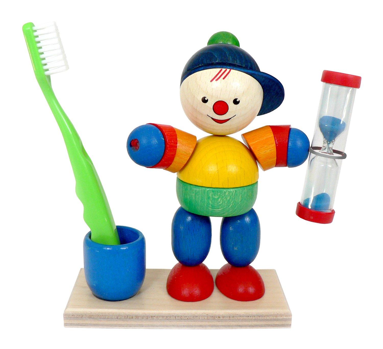 Hess Holzspielzeug 14528 - Zahnputzuhr aus Holz, Lucas, ca. 13 cm Hess-Spielzeug Hess_14528 Beauty (Kosmetik und Schmuck) Kinder Frisieren und Zahnpflege