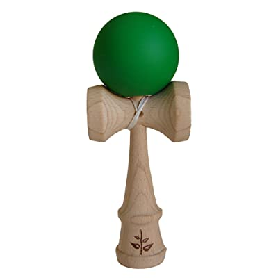 Green Rubberized Kendama: Toys & Games
