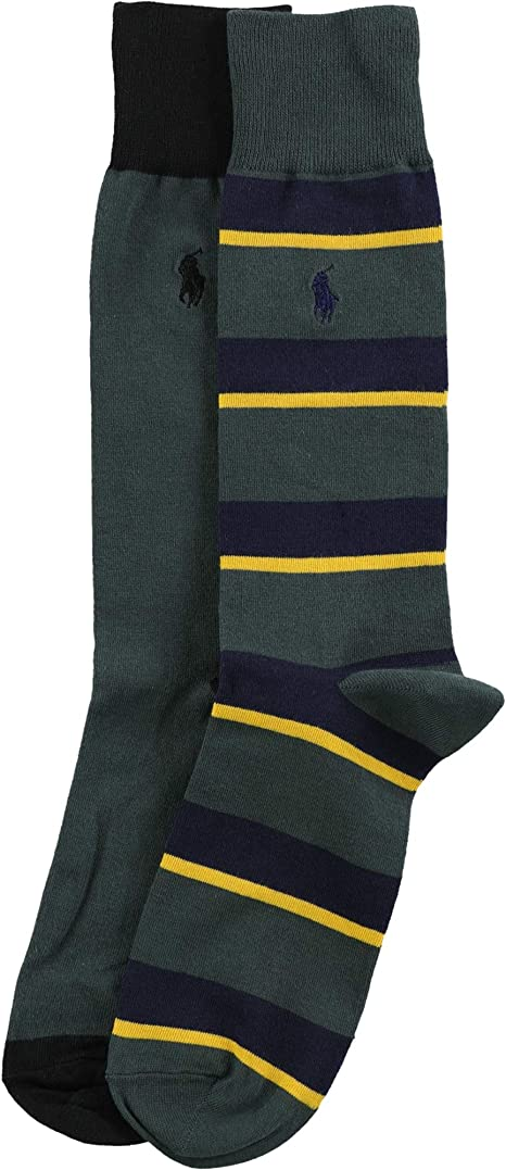 2 Pack Polo Ralph Lauren 899756PK All Over Preppy Polo Bear Socks