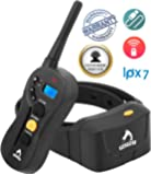 Patpet Remote Dog Training Collar, Waterproof Rechargeble & Training Guide, Beep/Vibration/Shock Collar for Dogs, All Size Dogs (10Lbs - 100Lbs),1968 Foot Range