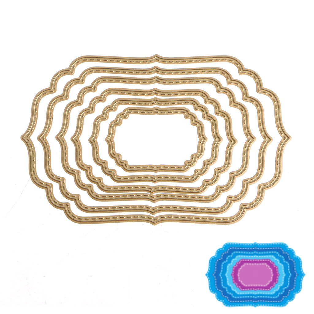 YDZN 6 Pcs CuttingDies Stencils ForScrapbookingCard MakingDIYAlbum Crafts Paper,DJ848 DJ848