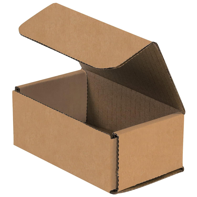BOX USA BM532K Corrugated Mailers 8 x 3 x 2 8 x 3 x 2 Pack of 50 Kraft